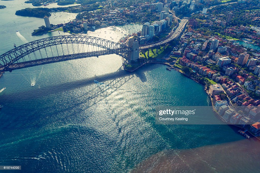 Aerial view of Sydney Harbor in Australia : Stock Photo