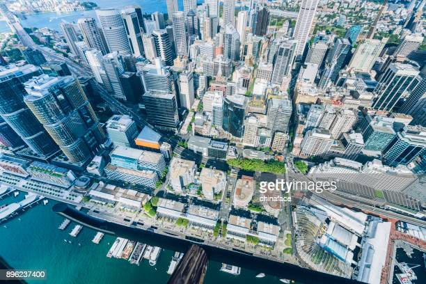 aerial view of sydney - financial district stock pictures, royalty-free photos & images
