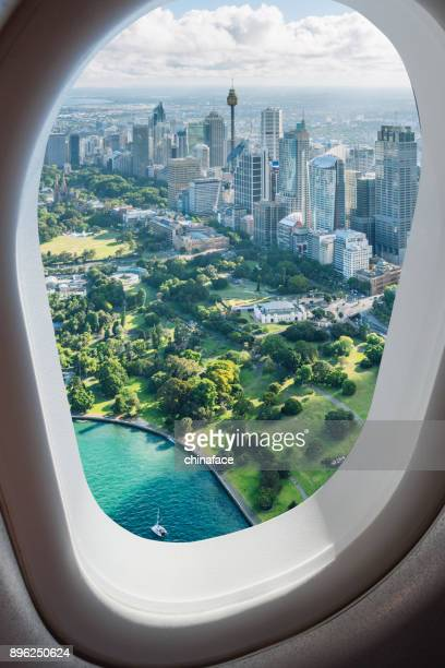 luchtfoto van sydney - sydney australië stockfoto's en -beelden