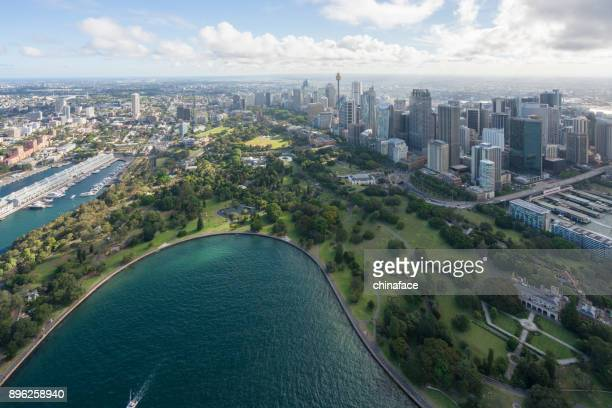 aerial view of Sydney