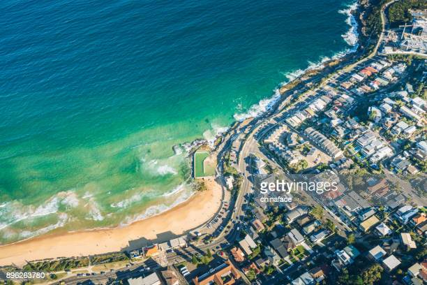 aerial view of sydney - coastline stock pictures, royalty-free photos & images
