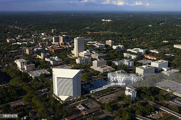 aerial view of tallahassee, florida - tallahassee stock pictures, royalty-free photos & images