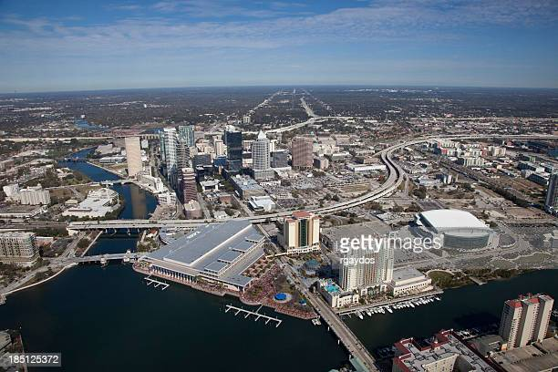 aerial view of tampa, florida - tampa stock pictures, royalty-free photos & images