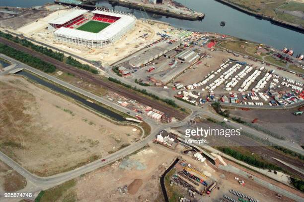Aerial view of Teesside. The new Boro Stadium, 28th July 1995.