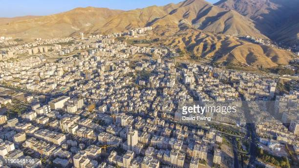 aerial view of tehran iran - david ewing stock pictures, royalty-free photos & images
