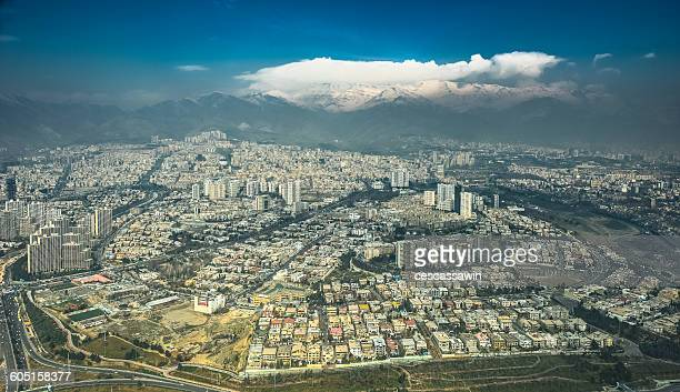 Aerial view of Tehran, Iran