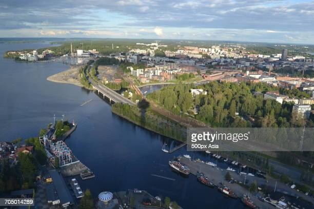 Aerial view of Tempere, Finland