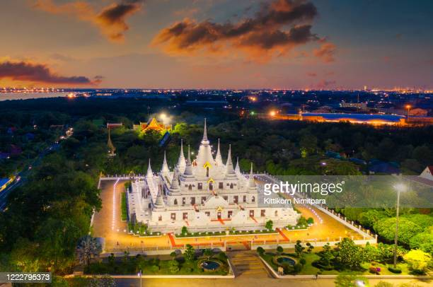 aerial view of temple in thailand. - association of southeast asian nations stock pictures, royalty-free photos & images
