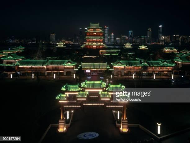 Aerial view of Tengwang pavilion of Prince Teng.