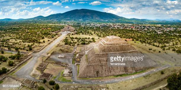 Aerial view of Teotihuacan Mexico
