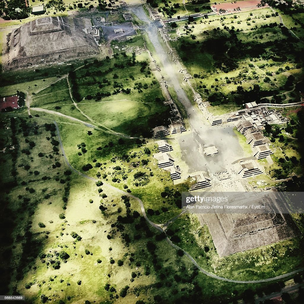 Aerial View Of Teotihuacan : Stock Photo