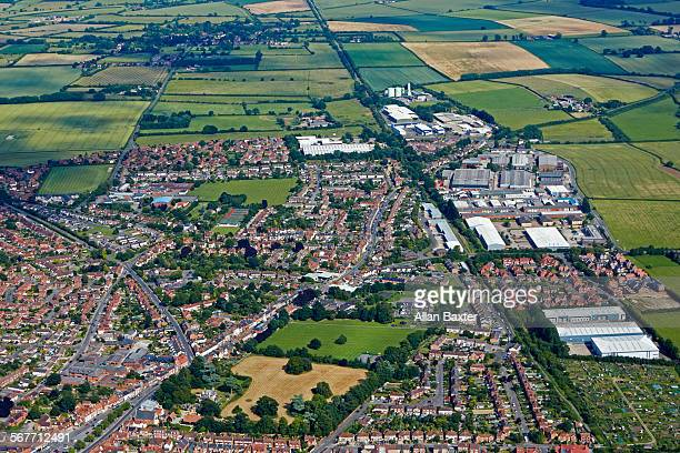 Aerial view of Thame in Oxfordshire