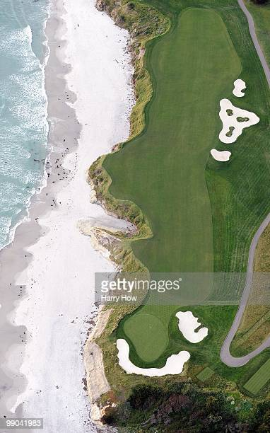 Aerial view of the 9th hole at the Pebble Beach Golf Links on May 9 2010 in Pebble Beach California