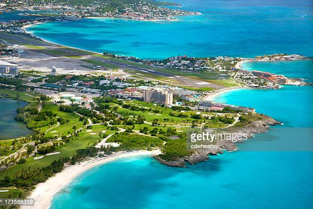 aerial view of the airport in Dutch St.Martin