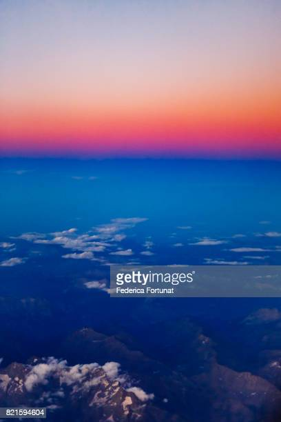 Aerial view of the Alpes Maritimes, France