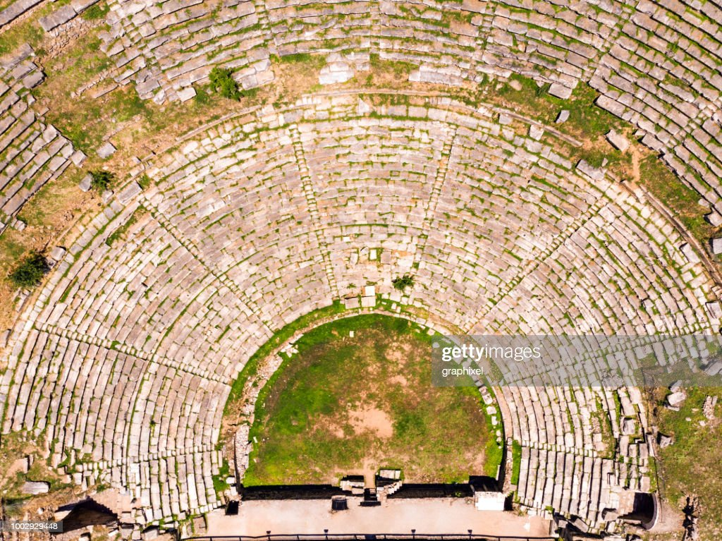 Aerial View of The Ancient City Nysa : Stock Photo