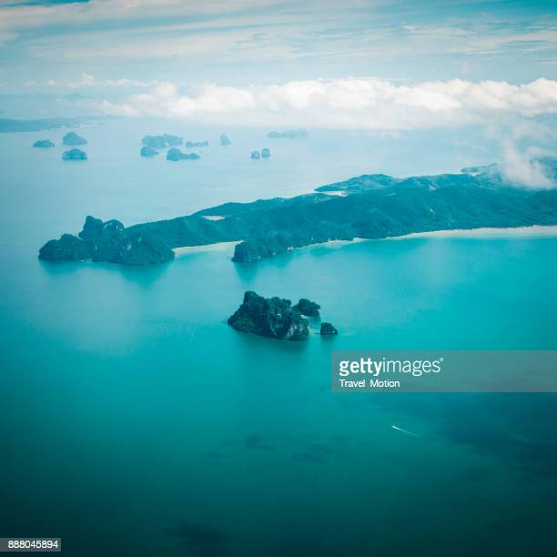 Aerial view of the Andaman coast islands, Phuket, Thailand