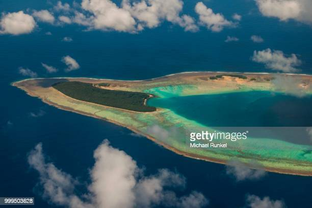Aerial view of the Ant Atoll, Pohnpei, Micronesia