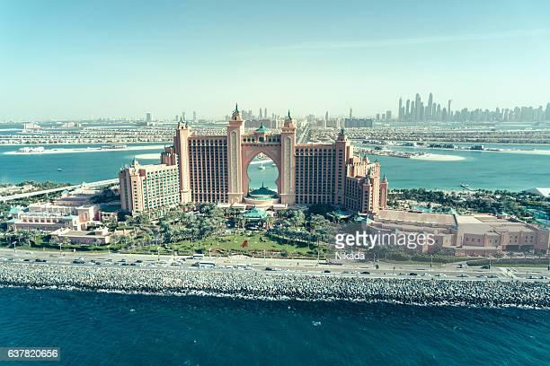 Aerial view of the Atlantis Resort luxury hotel, Dubai