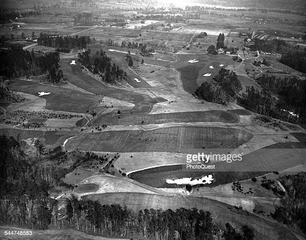 Aerial view of the Augusta National Golf Club course Augusta Georgia January 10 1933 The course was laid out by Robert Tyre Jones Jr a retired...