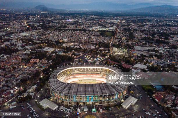 Aerial view of the Azteca Stadium prior the Final second leg match between America and Monterrey as part of the Torneo Apertura 2019 Liga MX at...