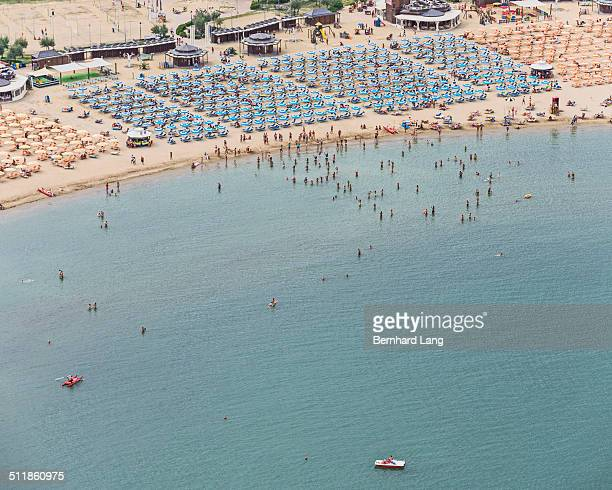 Aerial View of the beach at the Adria
