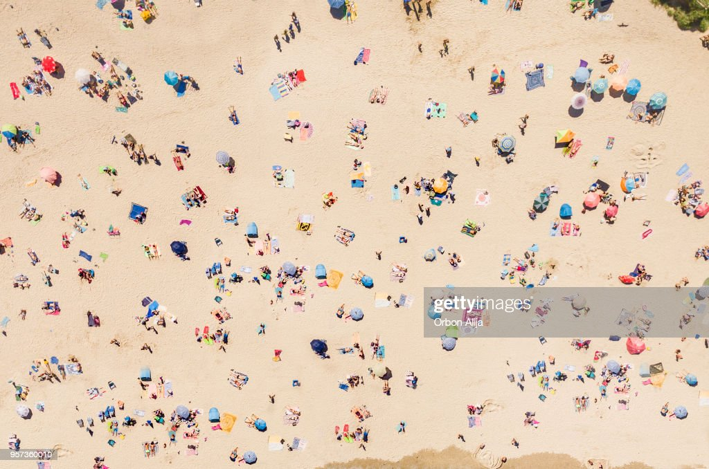 Aerial view of the beach : Foto stock