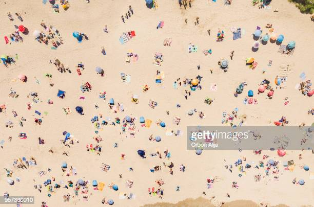 aerial view of the beach - beach stock pictures, royalty-free photos & images