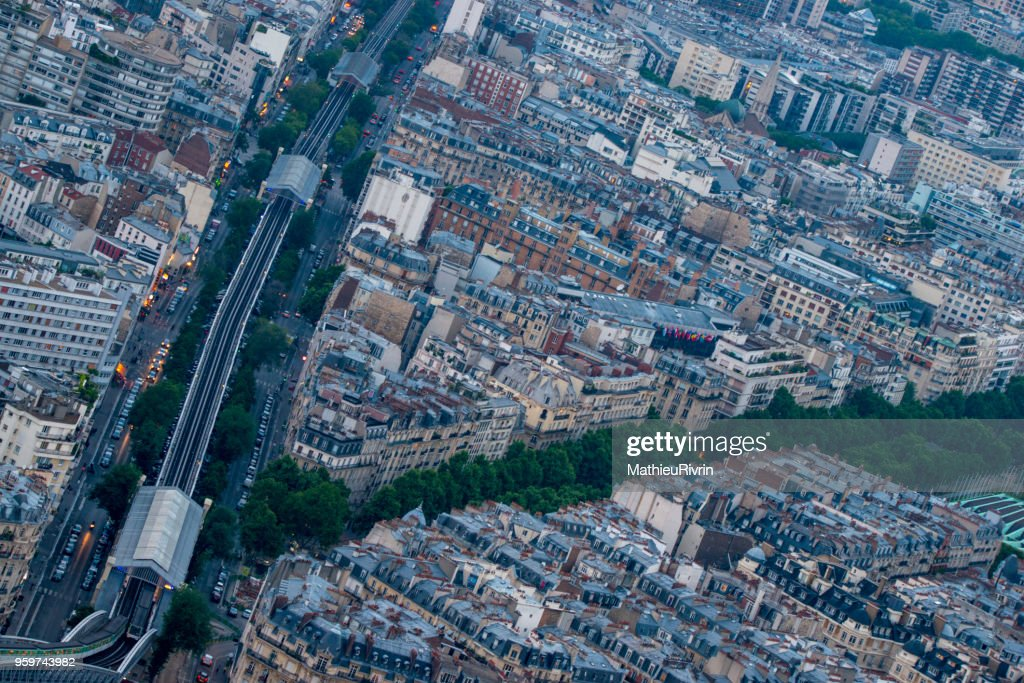 Aerial view of the beautiful and Romantic Paris : Stock-Foto