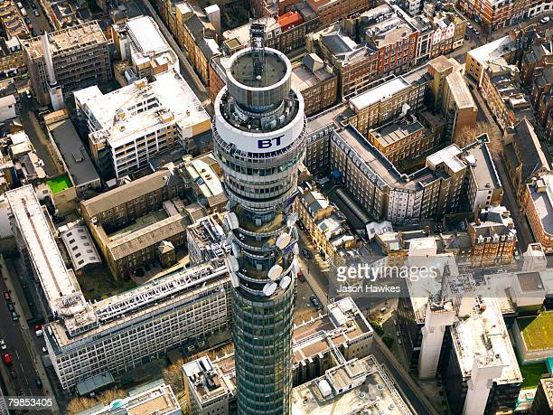 Aerial view of the BT Tower on February 26 2007 in London