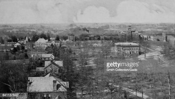 Aerial view of the campus of Clemson University South Carolina 1916