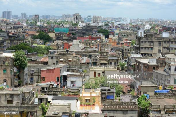 Aerial view of the capital city of Kolkata on June 20 2016 in Kolkata India
