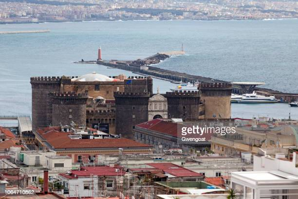 Aerial view of the Castel Nuovo in Naples