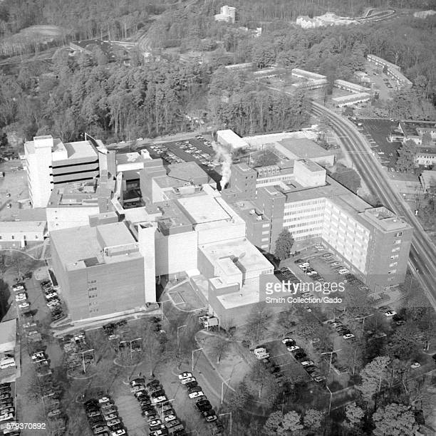 Aerial view of the CDC Buildings on Clifton Road in Atlanta Georgia 1988 Since 1946 CDC has expanded its Clifton Road campus as well as increased the...