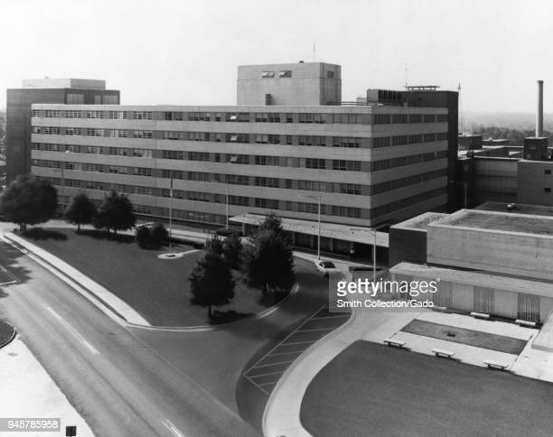 Aerial view of the Centers For Disease Control and Prevention Roybal Campus Clifton Road Atlanta Georgia 1977 Image courtesy Centers for Disease...