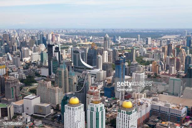 aerial view of the central embassy in bangkok - gwengoat stock pictures, royalty-free photos & images