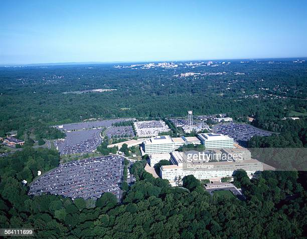 Aerial view of the Central Intelligence Agency headquarters Langley Virginia