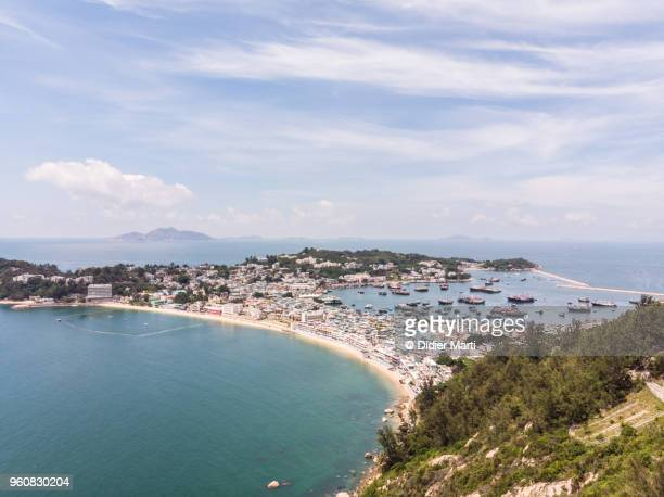 Aerial view of the Cheung Chau island in Hong Kong