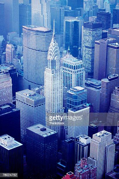 Aerial view of the Chrysler Building in New York City.