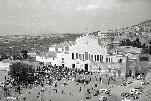 Aerial view of the church of Santa Maria delle Grazie and convent of Padre Pio San giovanni Rotondo