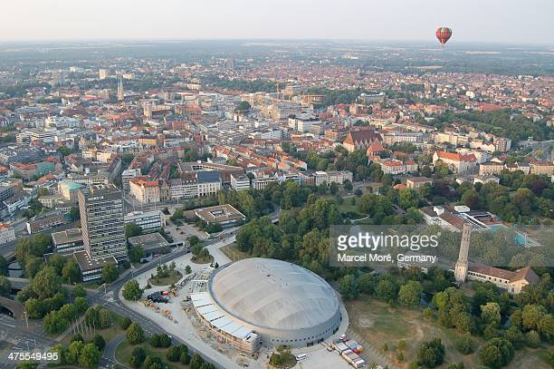 Aerial view of the city of Braunschweig