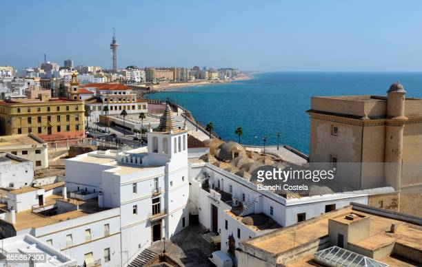 Aerial view of the city of Cádiz in Spain