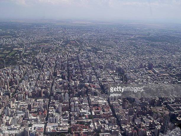aerial view of the city of cordoba, argentina - cordoba argentina stock pictures, royalty-free photos & images
