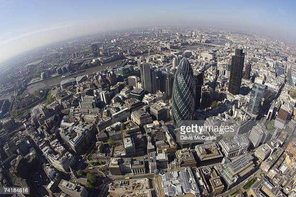 aerial view of the city of london, the financial centre of the capital. - capital cities stock pictures, royalty-free photos & images