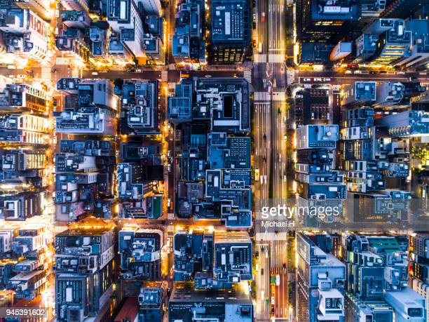 aerial view of the city. - thoroughfare stock pictures, royalty-free photos & images