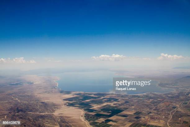 Aerial view of the Coachella Valley and Salton Sea