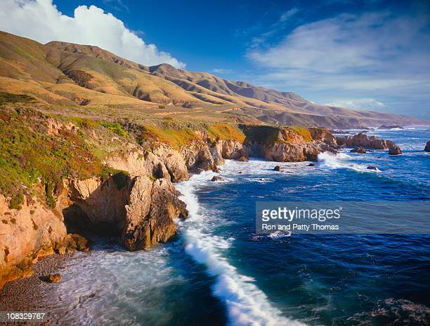 Aerial view of the coast of California