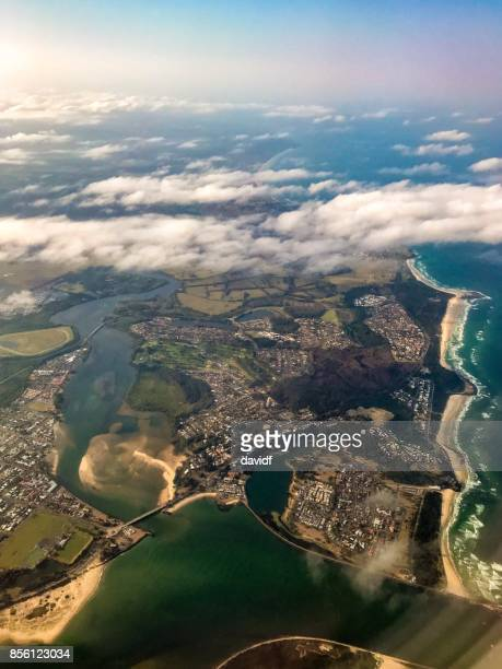 Aerial View of the Coastline Between Ballina and Lennox Head Australia