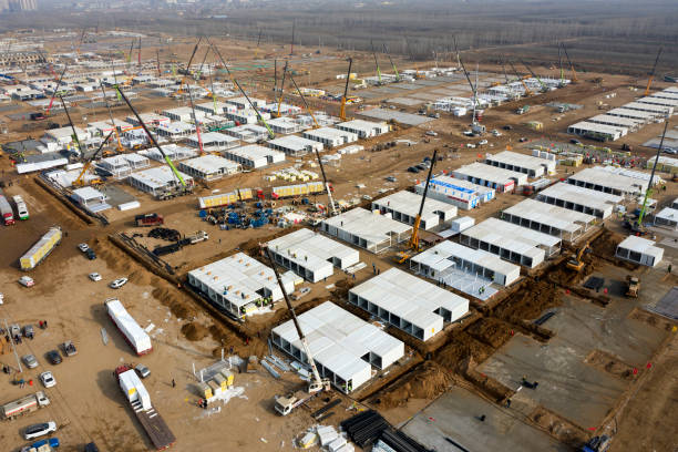 CHN: Centralized Quarantine Site Under Construction In Shijiazhuang