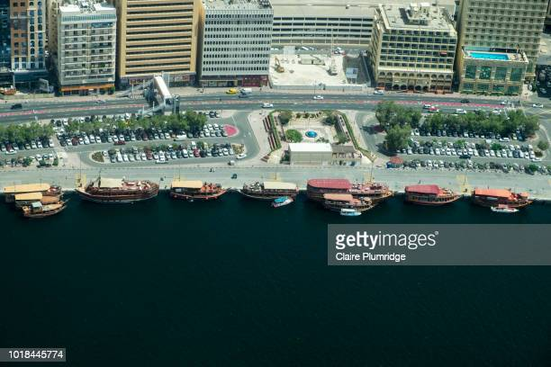 aerial view of the creek in dubai. - claire plumridge stock pictures, royalty-free photos & images